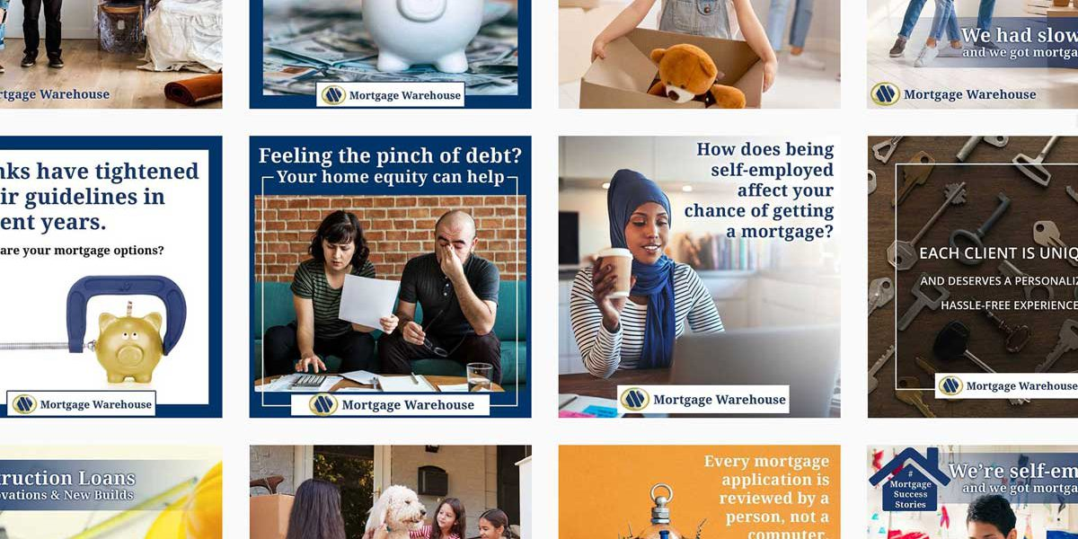 Content created for Mortgage Warehouse's Instagram feed