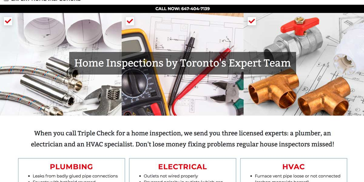 Screenshot of Triple Check Expert Home Inspections website